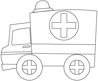 Transport dessins pour colorier - Dessin ambulance ...