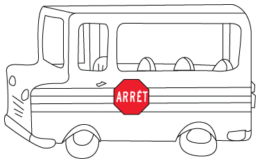 Transport dessins pour colorier - Dessin d un bus ...